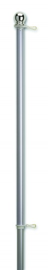 1″ Brushed Aluminum One-Piece Flagpole