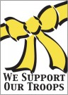 2′ 1/4″ x 3′ 1/4″ We Support Our Troops Banner